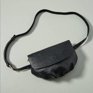 Anthropologie Black 2-way Belt & Crossbody Bag